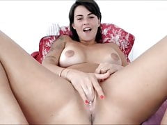 French beauty masturbate and toy until squirt