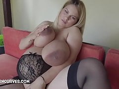 Heavily pregnant with massive tits