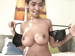 Jizzing Inside a Girl With Big Natural Asian Boobs