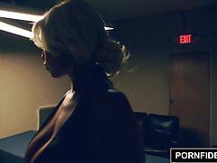 PORNFIDELITY, Bridgette B Interrogates A Suspect's Cock