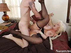 ALURA JENSON in black stockings gets hard fucking